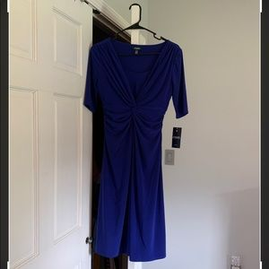 Blue Chaps Dress (NWT) XS (petite)